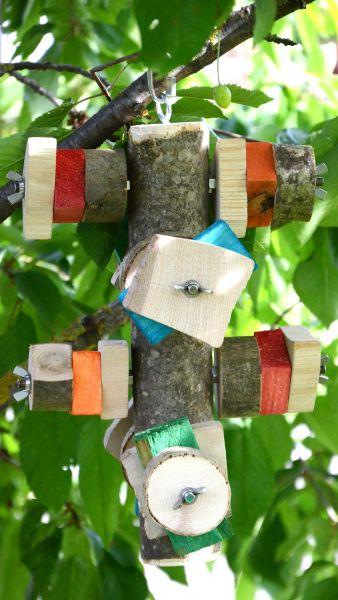 Baumstamm Schredder mit 8 Edelstahlschrauben zum Nachfüllen