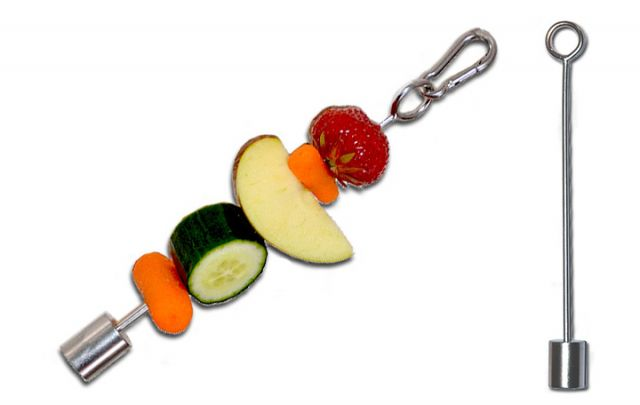 Edelstahl-Fruchtspieß, klein