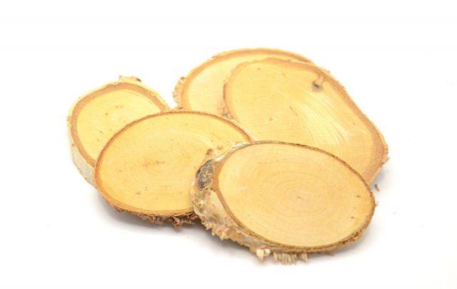 Birkenscheiben oval 5-10cm 5Stück