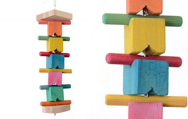 Würfel Turm für Papageien