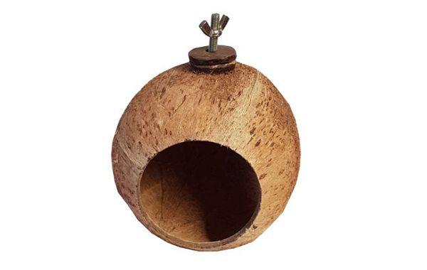 Kokosnuss Nest mit Halterung