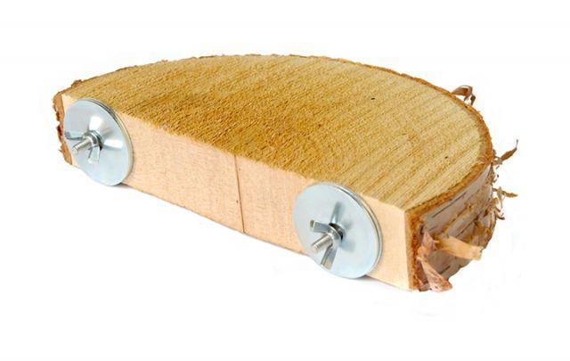 halbrundes Natur-Sitzbrett Birke - 2 Größen