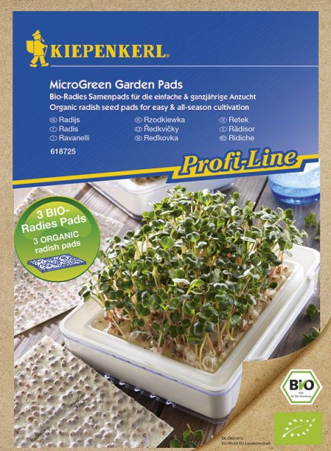 MicroGreen Garden Bio-Radieschen Nachfüllpads