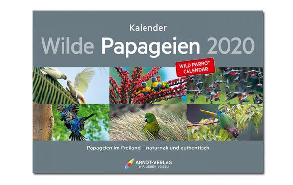 """Kalender Edition """"Wilde Papageien"""" 2020 im Panoramaformat"""