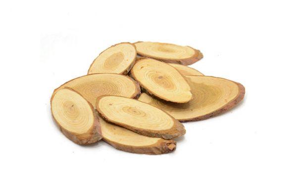 Holzscheiben, oval 5-7cm 10 Stück