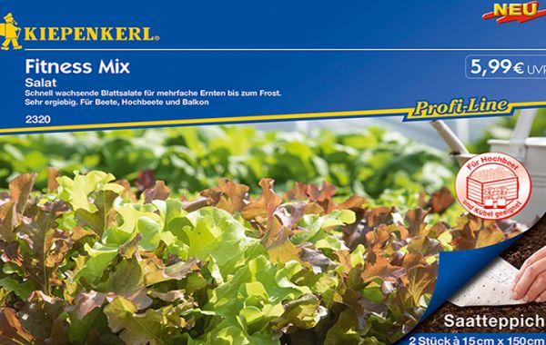 Salat Fitness Mix, doppelt Saatteppich