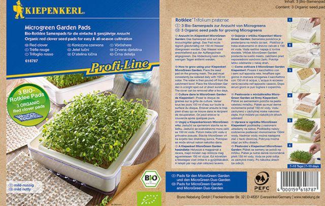 Profi Line Kiepenkerl Nachfüllpads für MicroGreen Garden BIO Rotklee