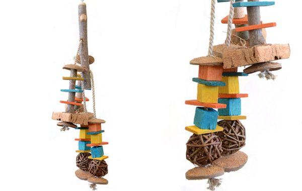 Mini Spielast mit Weidenbällen 35x15cm
