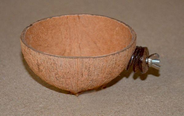 Kokos-Futterschale mit Halterung • kurz