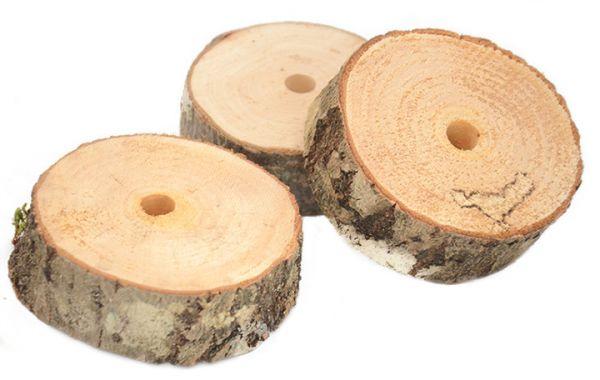 Naturholzscheibe dick 7-8 x 3 cm