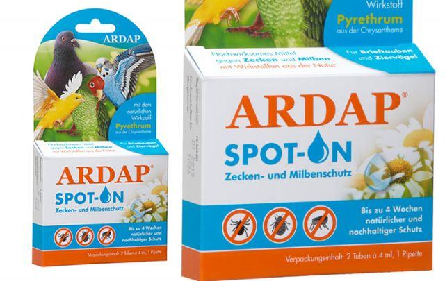 ARDAP Spot-On für Vögel und Tauben