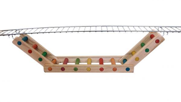Hängebrücke für Sittiche und kl. Papageien 70 x 12 cm