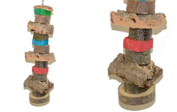 Spielzeug Knabberkette mit Kork 12 x 50 cm