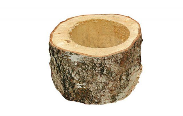 Futternapf aus Birkenholz, klein