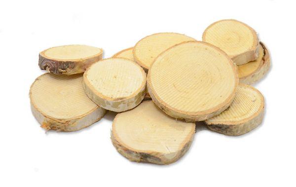 Birkenscheiben rund Ø 2-5cm 10 Stück