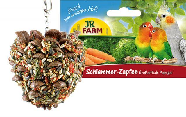 JR Birds Schlemmer-Zapfen Großsittich & Papagei 195g