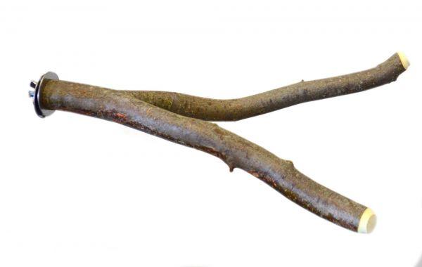 Sittich Naturholzsitzstange verzweigt mit Befestigungsschraube 20 cm/ 30 cm
