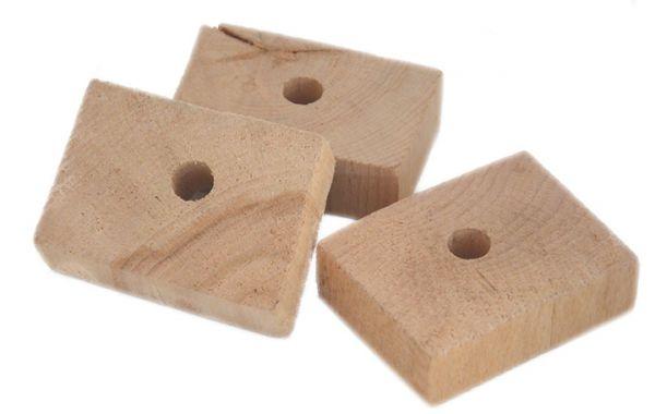 Holzklötzchen groß 6-7x2cm